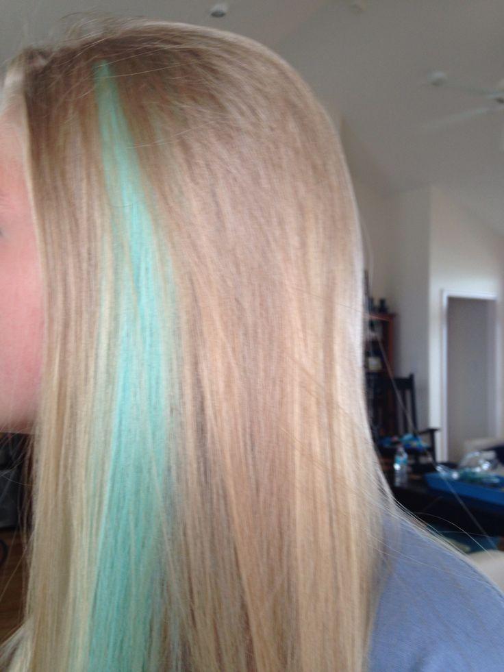 Dip Dye Hair With Blue Kool Aid Was Dip Dyeing Her Hair | Dark Brown ...