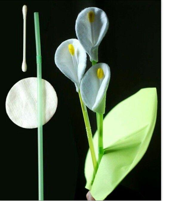 Kulak çöpünden çiçek