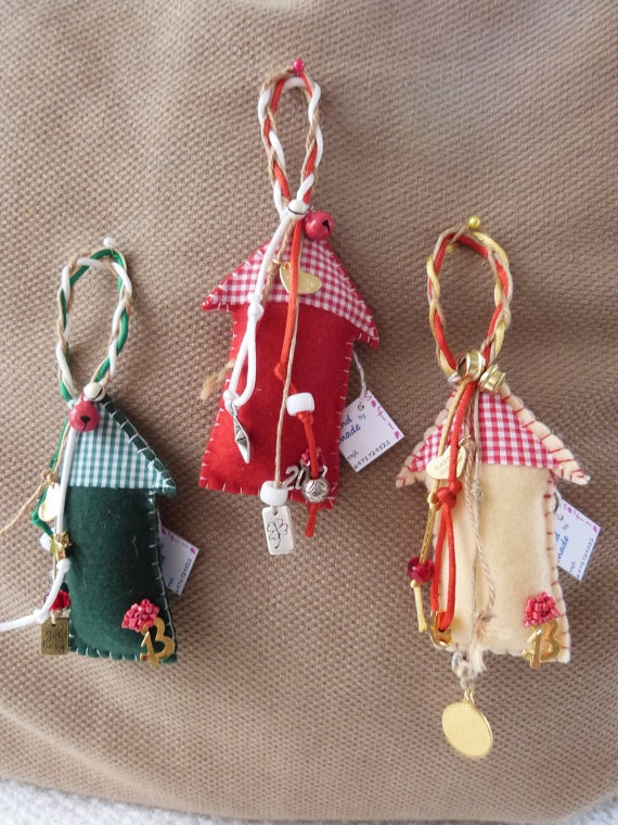 Little House Ornament  for Good Luck by funnydots on Etsy, €15.00