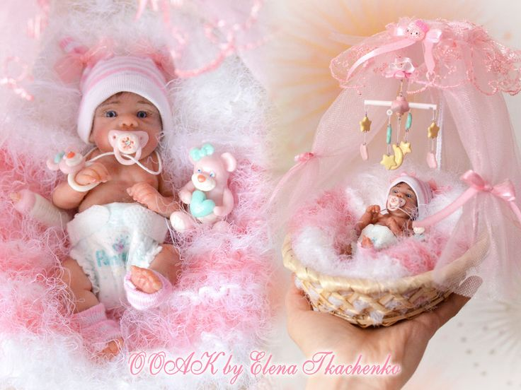 OOAK Miniature Newborn Baby Girl 4,1 in  | eBay