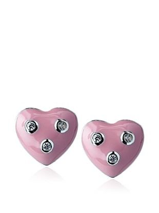 55% OFF Frida Girl Pink Heart Stud Earrings