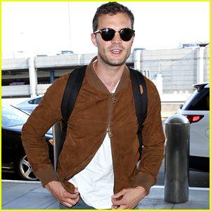 Jamie Dornan's Jacket Is Having a Zipper Issue!
