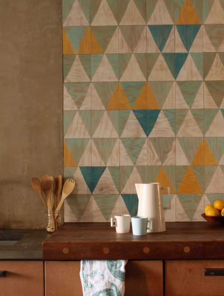 Moonish Co, Painted Marine Plywood Wall Tiles | Remodelista