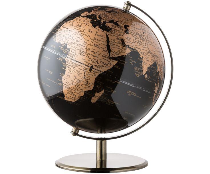 Mit Deko-Globe Earth in Schwarz, verkupfert geben Sie Ihrem Zuhause eine persönliche und …   – Humboldt 250 Jahre