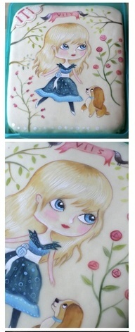 hand painted cake, source unknown