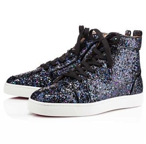 Christian Louboutin Rantus Orlato Glitter Sneaker Spikes Velour Loubille Louis