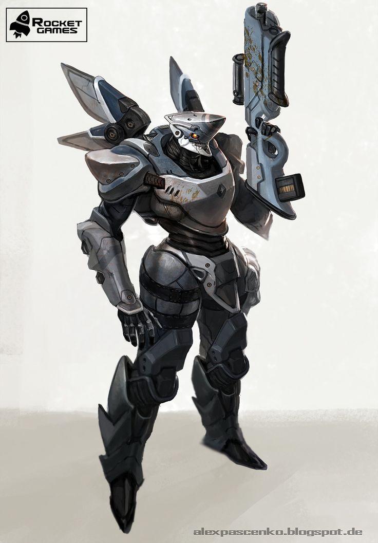 combat robot by AlexPascenko.deviantart.com on @deviantART