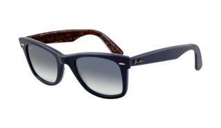 Ray Ban RB2140 Wayfarer Sunglasses Top Texture on Blue Frame Cry
