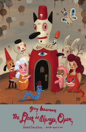 Gary Baseman: The Door is Always Open Exhibition Poster available in-store at Audrey's Museum Store or give us a call! (310) 440-4505.