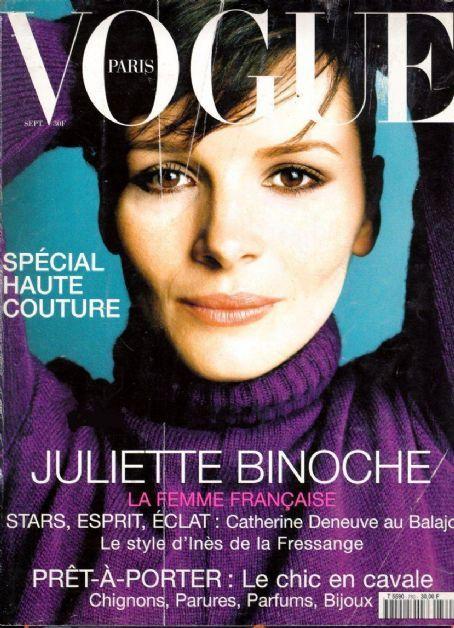 Juliette Binoche for Vogue Paris September 2001