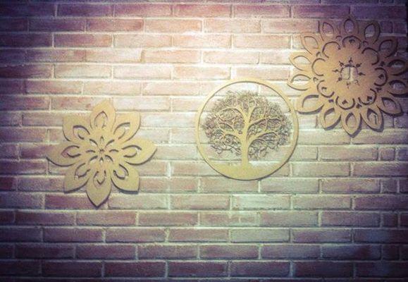 artigos de decoração de paredes e casamentos com 60 cm de diâmetro,em mdf ou madeira de bétula natural