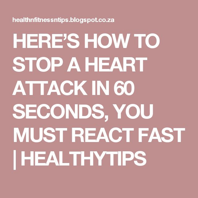 HERE'S HOW TO STOP A HEART ATTACK IN 60 SECONDS, YOU MUST REACT FAST | HEALTHYTIPS