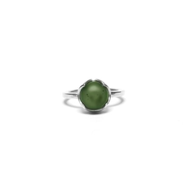 Phases Ring Sterling Silver + NZ Pounamu greenston