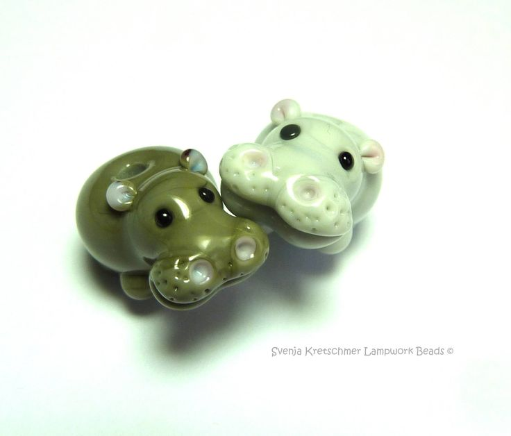 cute glass hippo's