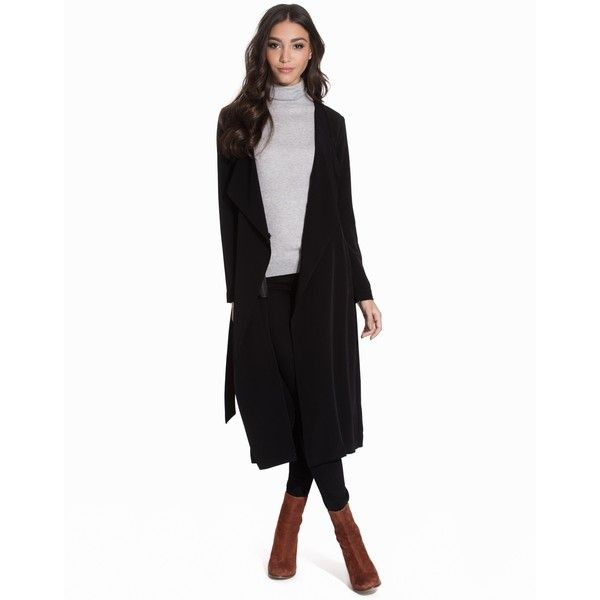 Only Onlnew Lizzy Long Coat Otw (485 SEK) via Polyvore featuring