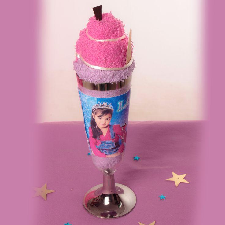 Cumpleaños copa helado toalla