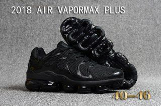 b6527987c54 New Fashion 2018 NIKE AIR VAPORMAX PLUS Men s Cushioning Sports Shoes All  Black