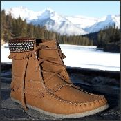 Ladies Concho Moccasin Boot
