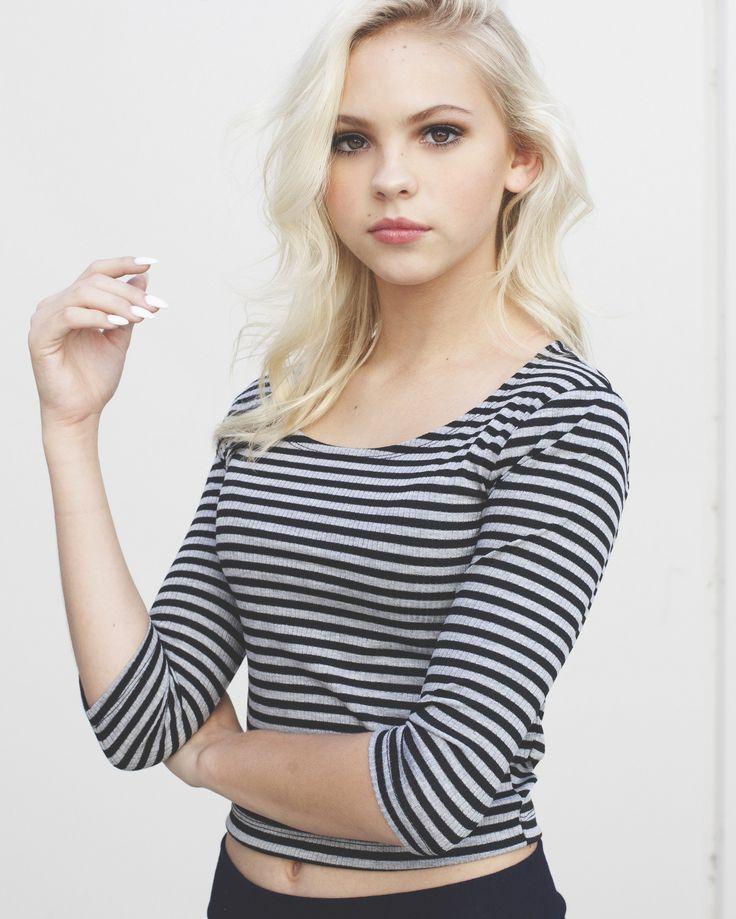 Jordyn's Grey and Black Stripe Top – Pearl Yukiko