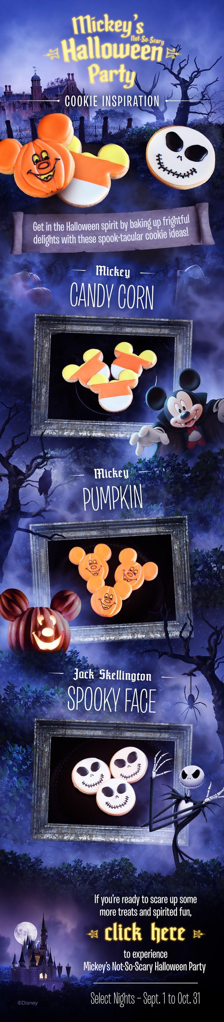 Mickey's #NotSoScary Halloween Party cookie inspiration! #DIY #waltdisneyworld