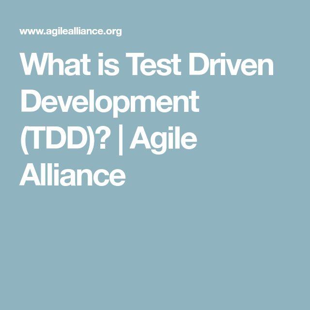 What is Test Driven Development (TDD)? | Agile Alliance