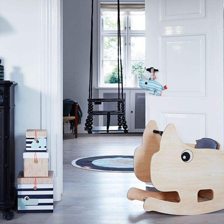 Done by Deer has a great selection of storage, decor and toys for the nursery. The adorable animals and colours will fit perfectly into nearly all nursery room decors.