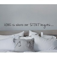 Home is where our story begins. Wallsticker/Veggord