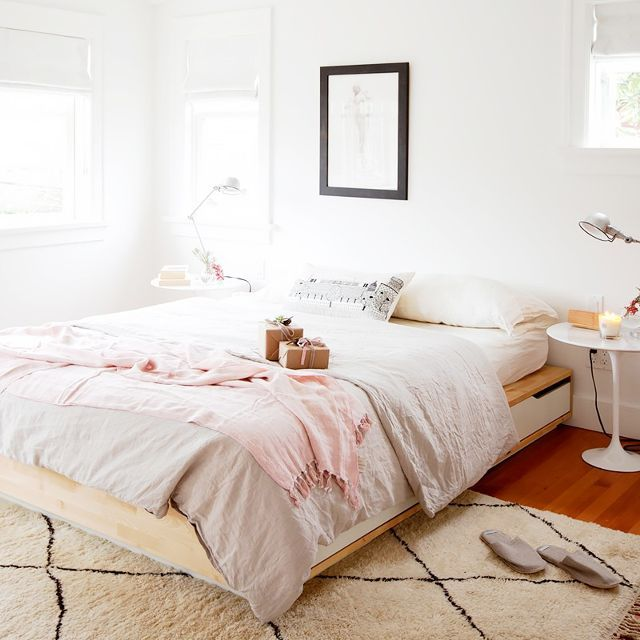 Related image Ikea bed, Feminine bedroom, Home