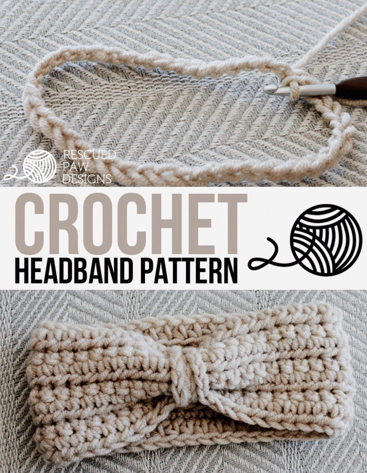 Crochet Crochet Chained Ear Warmer by Rescued Paw Designs