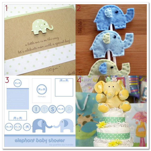 elephant baby shower theme from indie tot baby blog elephant baby