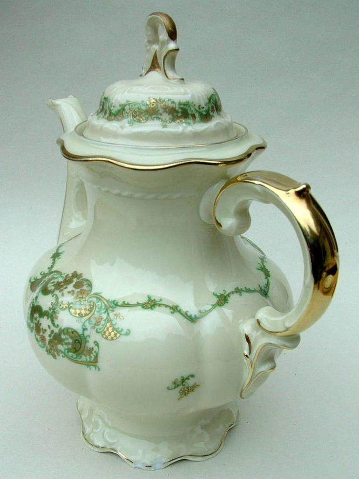 Vintage 1960 s Hutschenreuther Fine China 3pt Coffee Pot & Lid 11970 26cm high