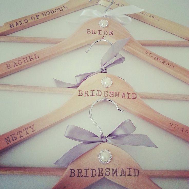 Pretty personalised coat hangers