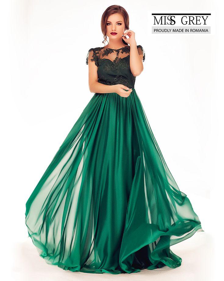 Long evening dress made from silk veil and lace: https://missgrey.ro/ro/rochii/rochie-erin-verde/398?utm_campaign=iulie&utm_medium=rochie_erin_verde&utm_source=pinterest_produs