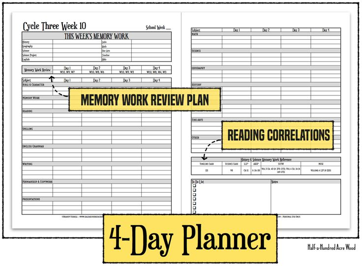 Free CC Cycle 3 Planners for Classical Conversations families. Includes reading correlation and memory work review plan.
