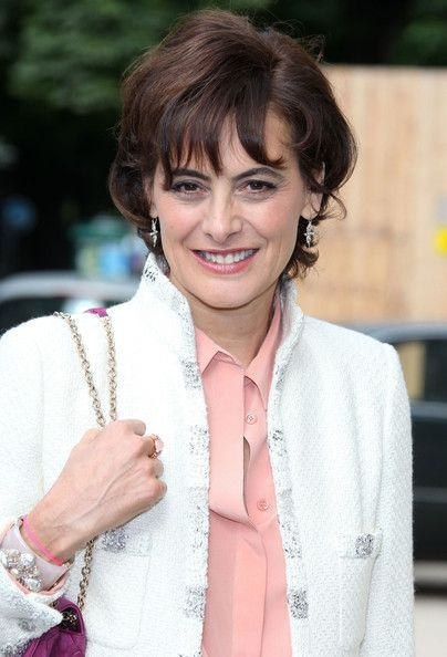 Ines de la Fressange at the Chanel Fashion Show in Paris July 3, 2012