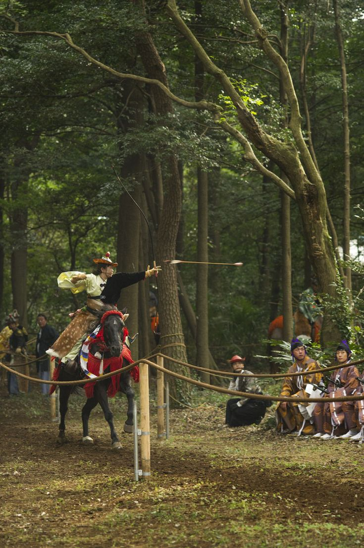At the budo, or martial arts, tournament and exhibition at Tokyo's Meiji Shrine a few weeks ago I saw this wonderful performance of Yabusame or mounted horse archery. I have written previously abou...