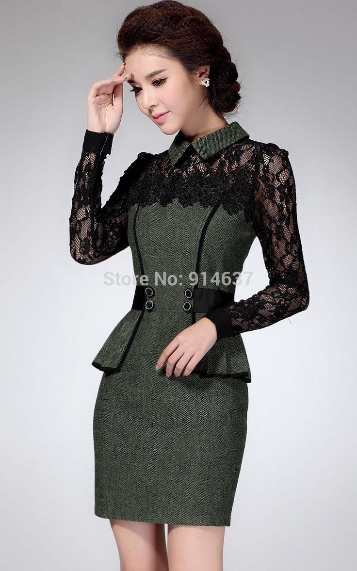 Aliexpress.com: Comprar Vestido de encaje de invierno, vestidos ocasionales…