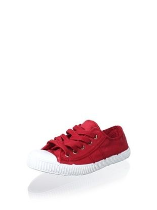 45% OFF Cienta Kid's Canvas Sneaker (Burgundy)
