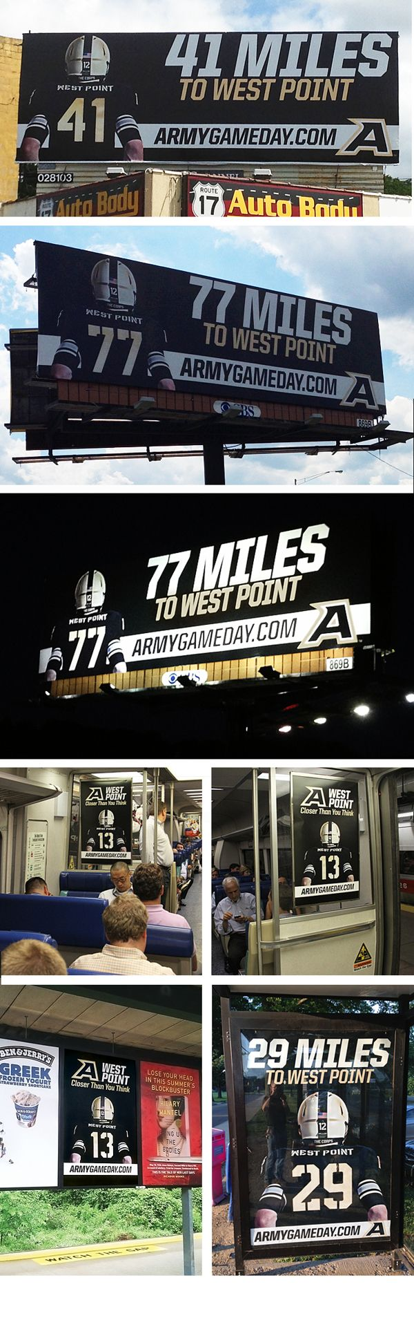 2013 Army Football Billboard/Metro Campaign on Behance