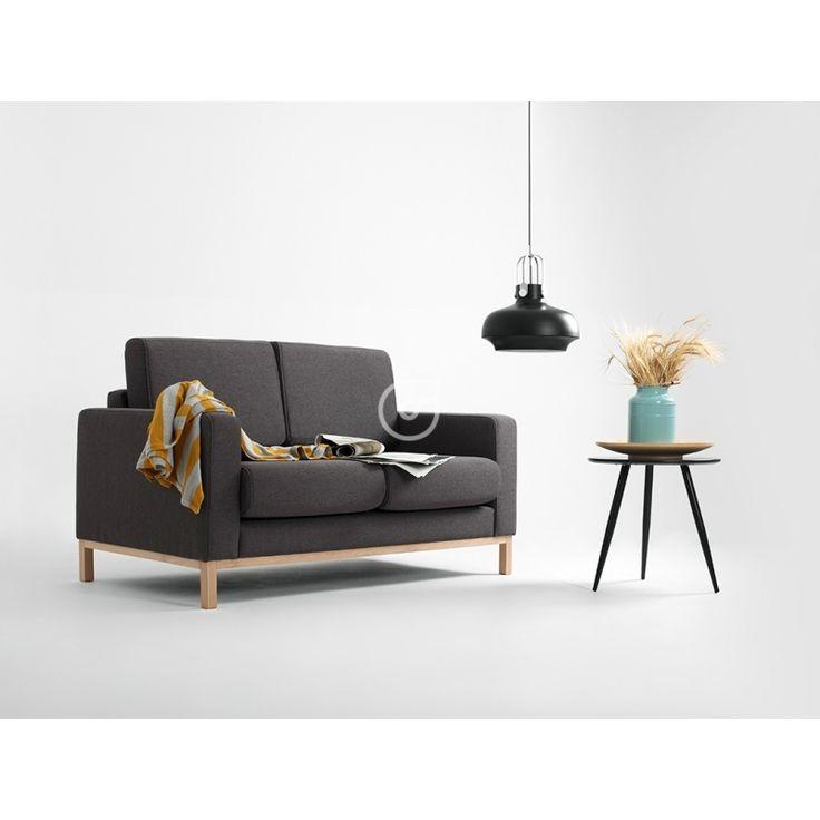 Sofa Scandic 2 os. rozkł., karbon, naturalny - JOKODECOR JOANNA KOWALSKA- JoKoDecor