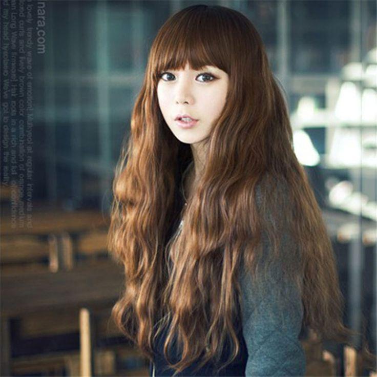 1 шт. синтетический длинное тело волнистые волосы каштановые косплей жаропрочных ни один волос парики с