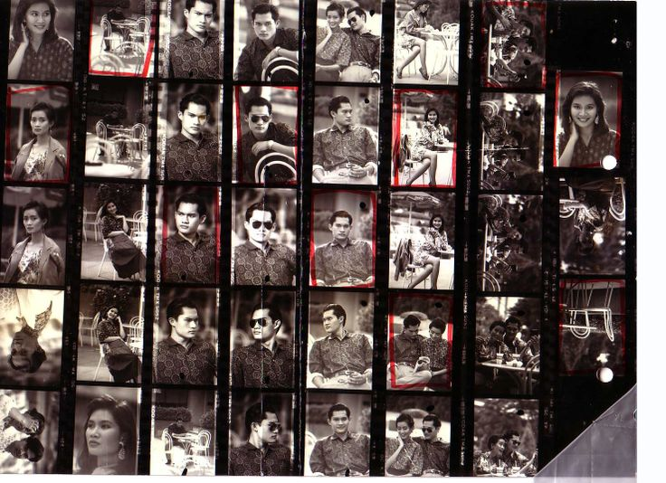 Contact print of my old photography work