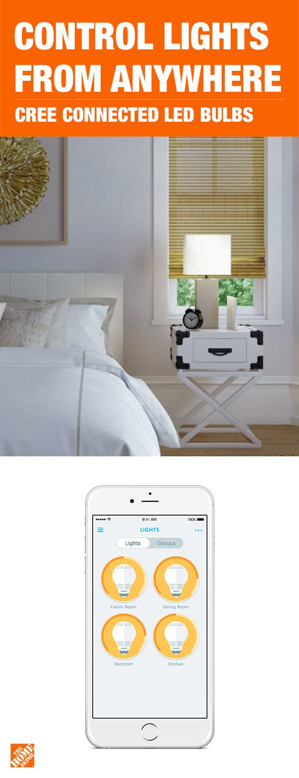 Control your lights from anywhere on busy mornings, late nights and time away from home. The Cree Connected LED Bulb is a cost-effective way to completely control your home's lighting. The bulb is simple to install and compatible with multiple home automation systems, including Wink and Samsung Smart Things. Click to learn more about this brainy bulb.