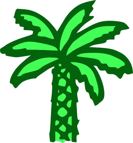 free vector Cartoon Green Palm Tree clip art graphic available for free download at 4vector.com. Check out our collection of more than 180k free vector graphics for your designs. #design #freebies #vector #floral