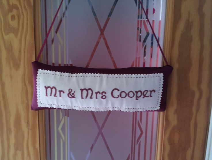 Handmade Mr & Mrs sign ideal as a gift by Beautiful Unique