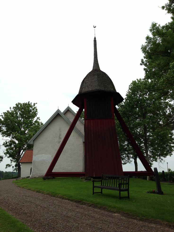 Klockstapel, church belfry, bell tower, Vastergotland, Sweden