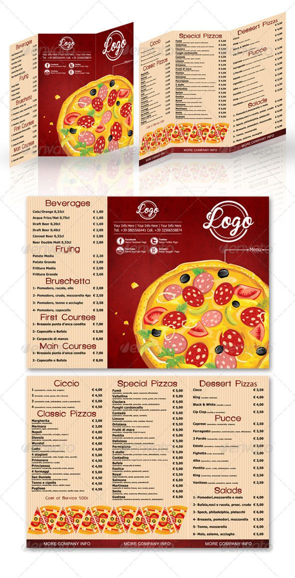 95 best Print Templates images on Pinterest Print templates - sample pizza menu template