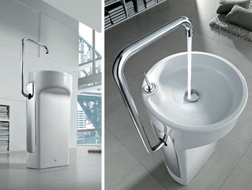 This chic space-saver wash basin by Roca is proving that even the smallest of bathrooms can boast big style