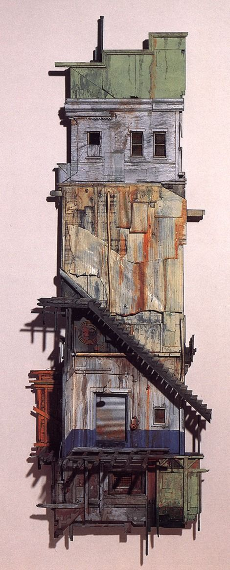 Michael C. McMillen, Astoria , painted wood and metal construction, 1987 on ArtStack #michael-c-mcmillen-1 #art