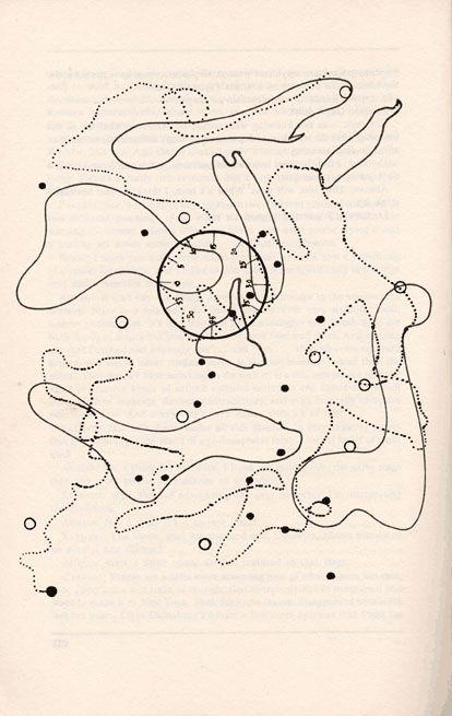 John Cage graphic score. Pionero de la música aleatoria, de la música electrónica y del uso no estándar de instrumentos musicales fue una de las figuras principales del avant garde de posguerra.